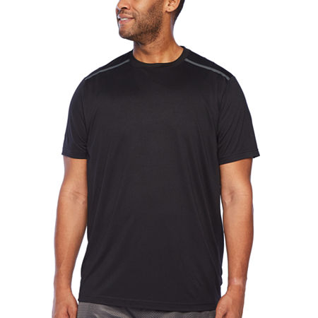 Msx By Michael Strahan-Big and Tall Mens Crew Neck Short Sleeve T-Shirt, Large Tall , Black