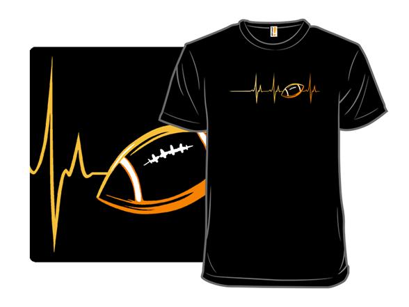 Heartbeats For Football T Shirt