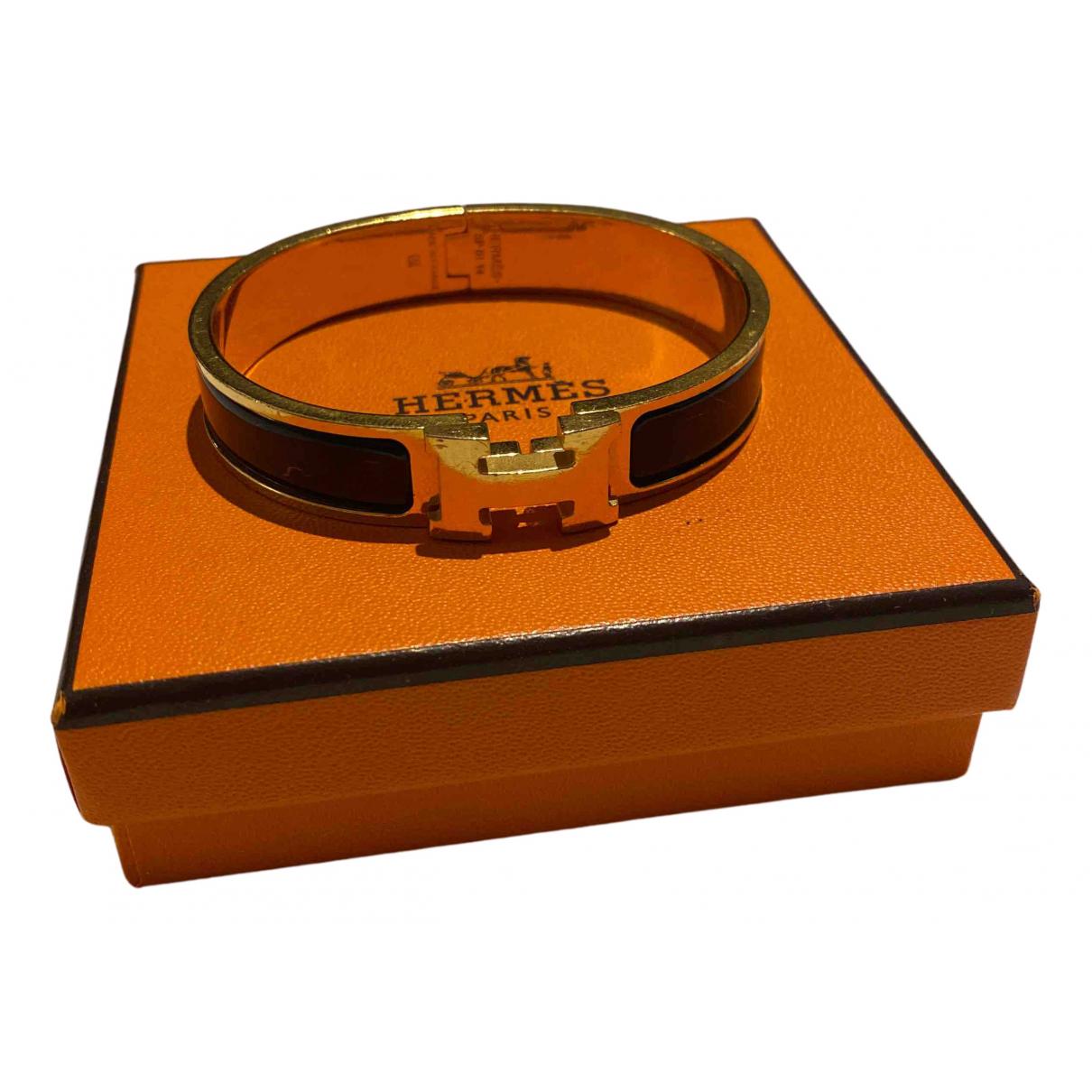 Hermes - Bracelet Clic H pour femme en metal - noir