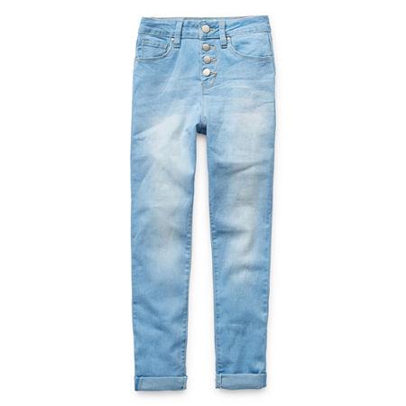 Ymi Big Girls High Rise Stretch Skinny Fit Jean, 8 , Blue
