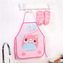 1pc Kids Cartoon Graphic Apron With Sleeve Cover