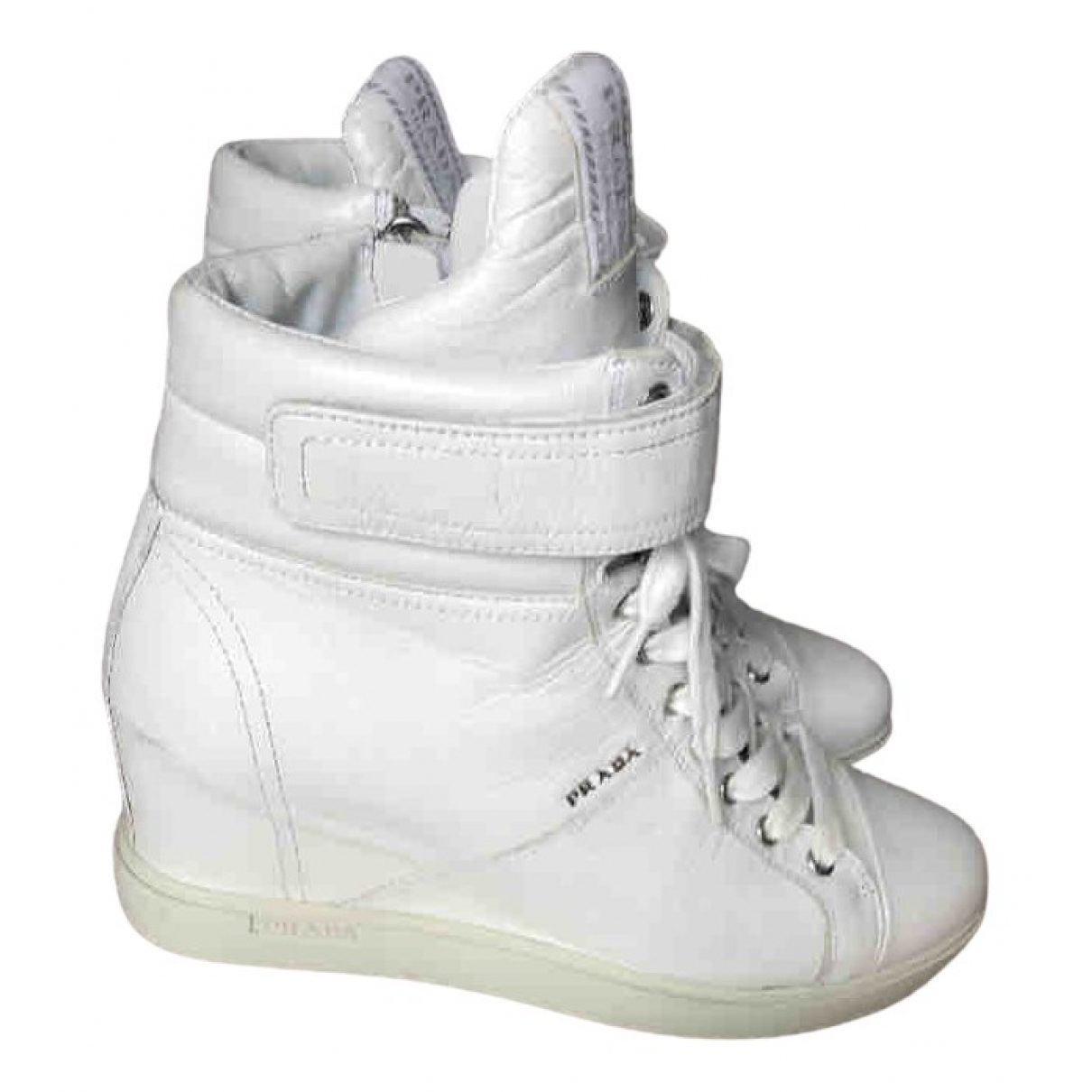 Prada \N White Leather Trainers for Women 40 EU