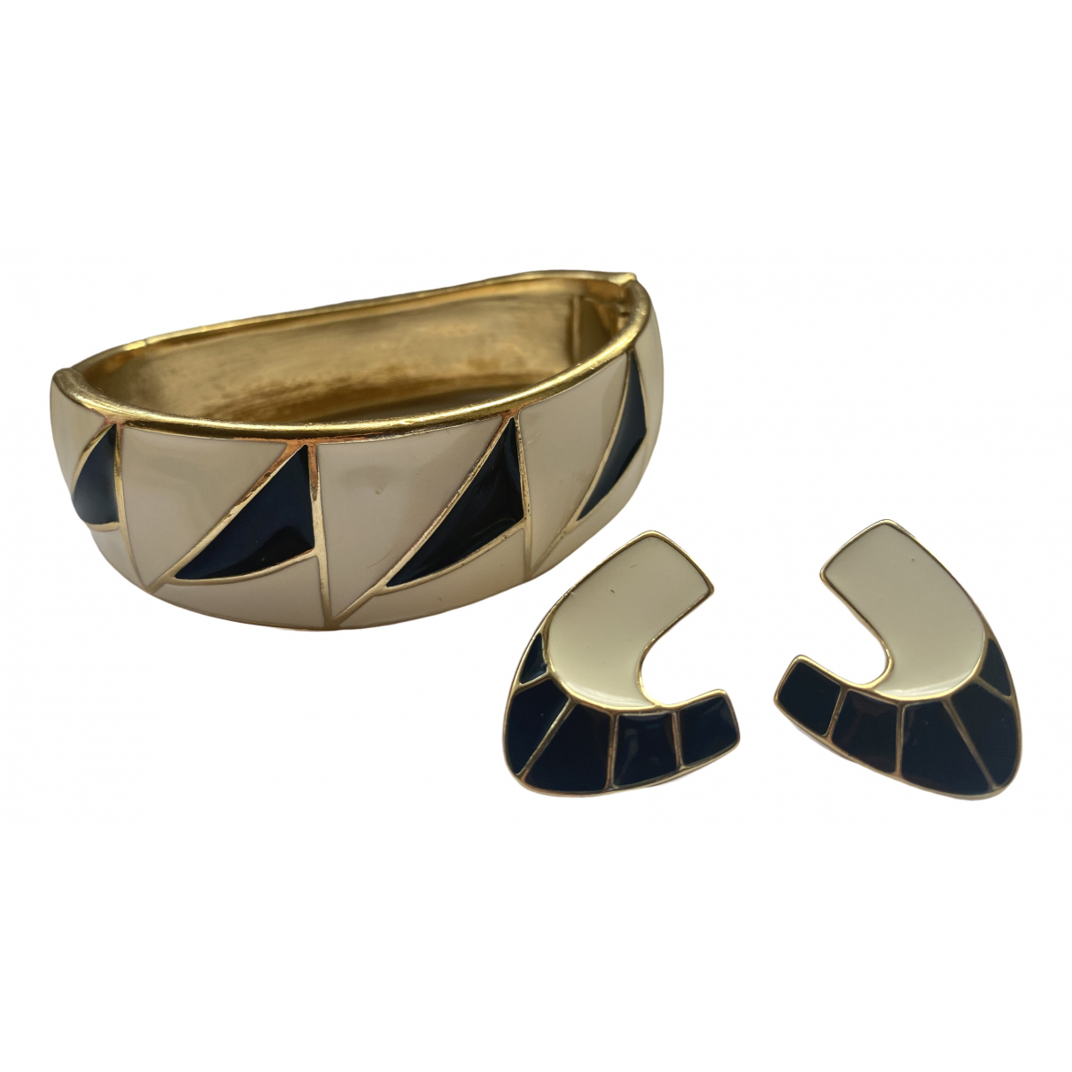 Trifari \N Schmuck-set in  Gold Metall