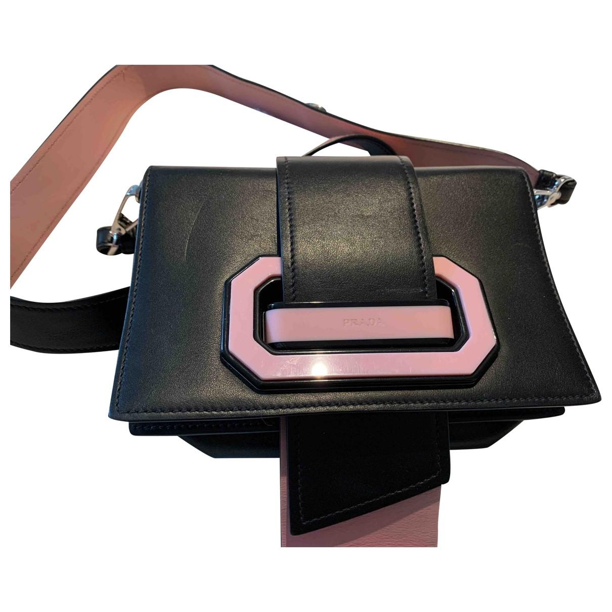 Prada - Sac a main Ribbon pour femme en cuir - noir