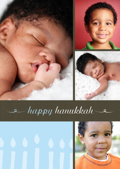 Hanukkah Photo Cards Mail-for-Me Premium 5x7 Folded Card , Card & Stationery -Hanukkah Lights
