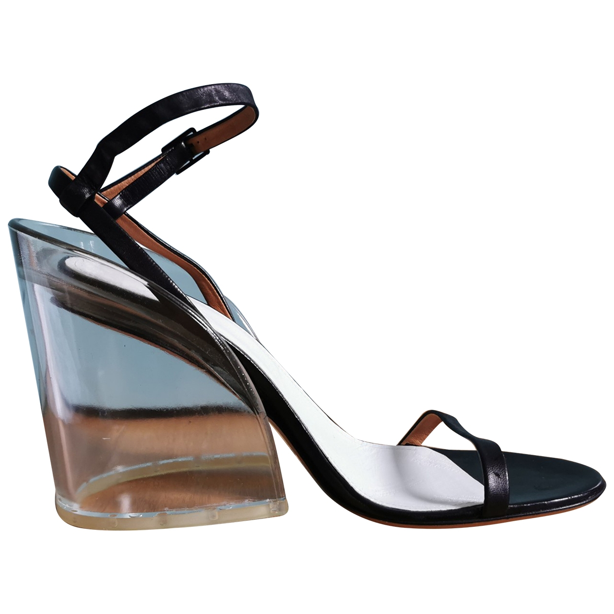 Maison Martin Margiela \N Black Leather Sandals for Women 40 EU
