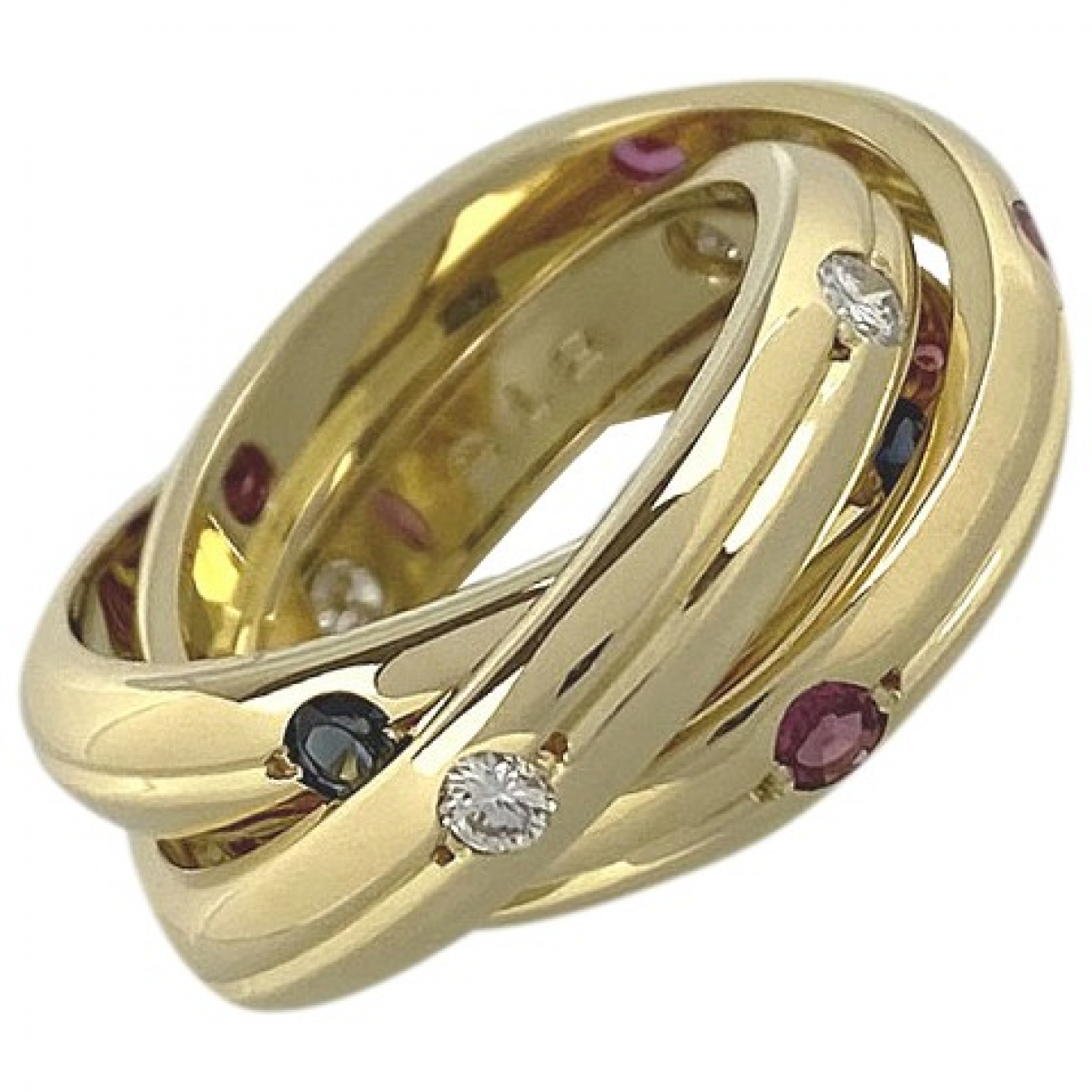 Cartier Trinity Ring in  Gold Weissgold