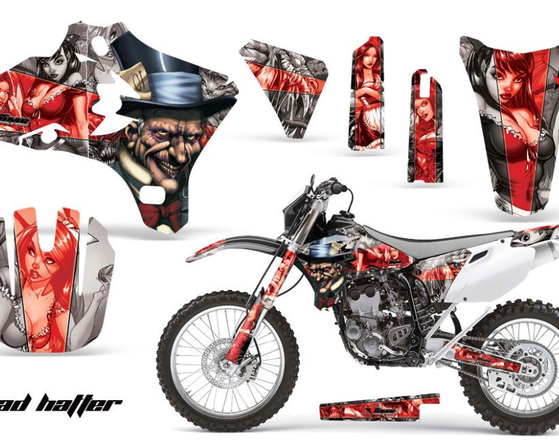 AMR Racing Dirt Bike Graphics Kit Decal Wrap For Yamaha YZ250F YZ450F 2003-2005áHATTER RED SILVER