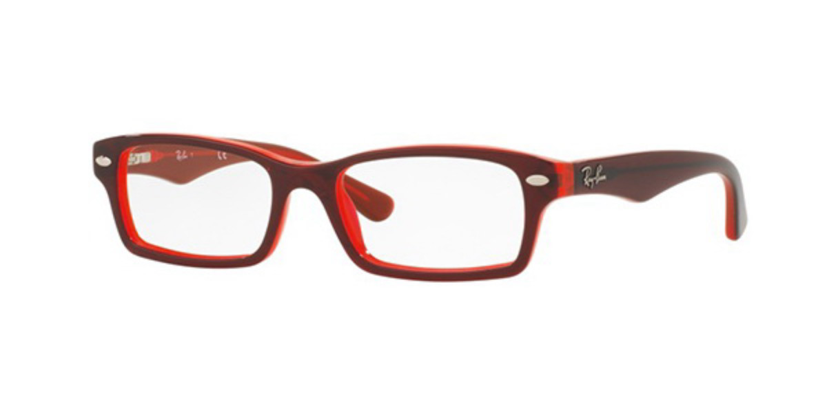 Ray-Ban Junior RY1530 3664 Kids' Glasses Red Size 46 - Free Lenses - HSA/FSA Insurance - Blue Light Block Available