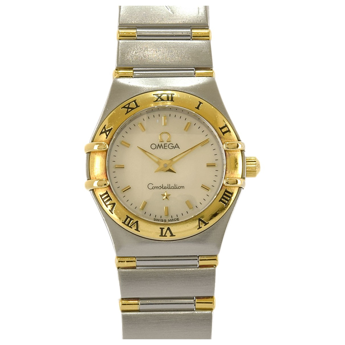 Omega Constellation White gold and steel watch for Women N