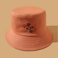 Figure Embroidery Bucket Hat