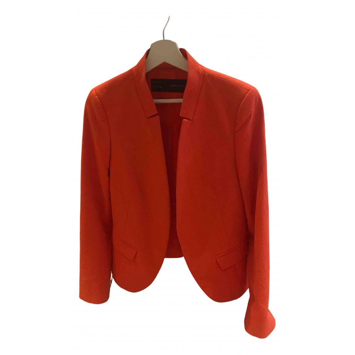 Zara - Veste   pour femme - orange