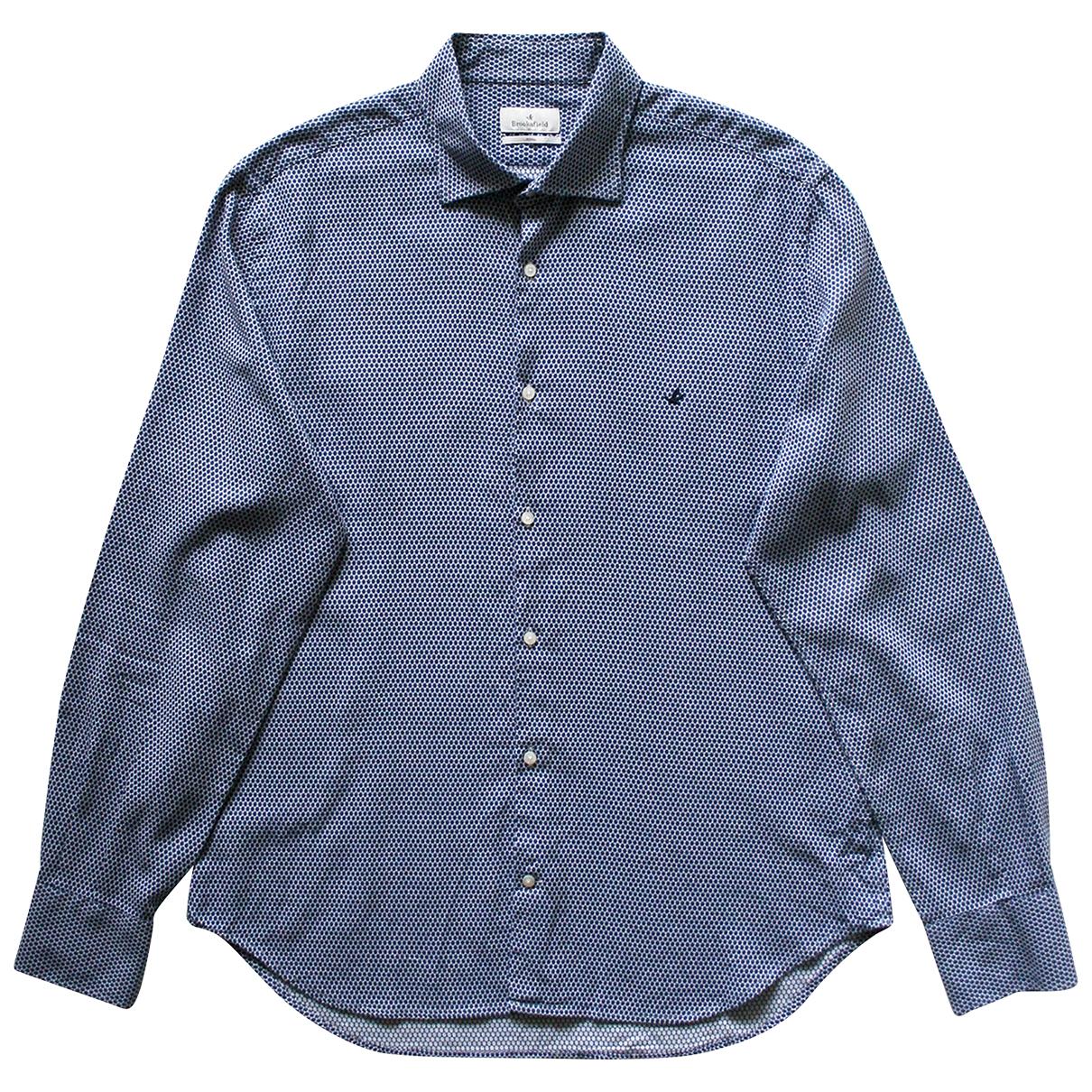 Brooksfield - Chemises   pour homme en coton - marine