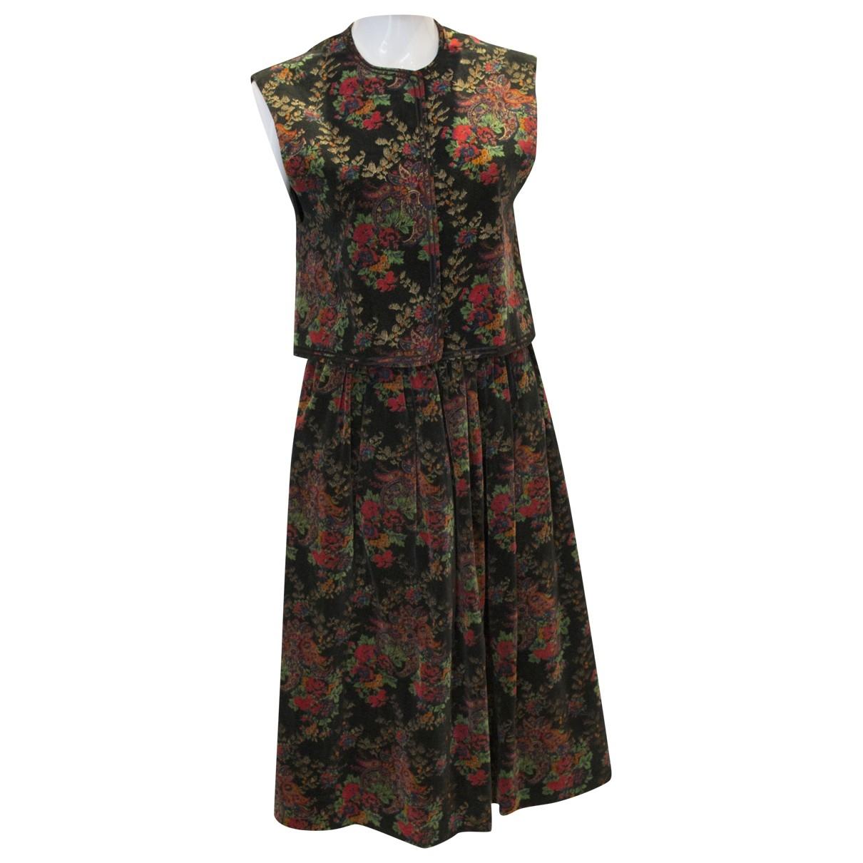 Jaeger \N Kleid in  Bunt Samt