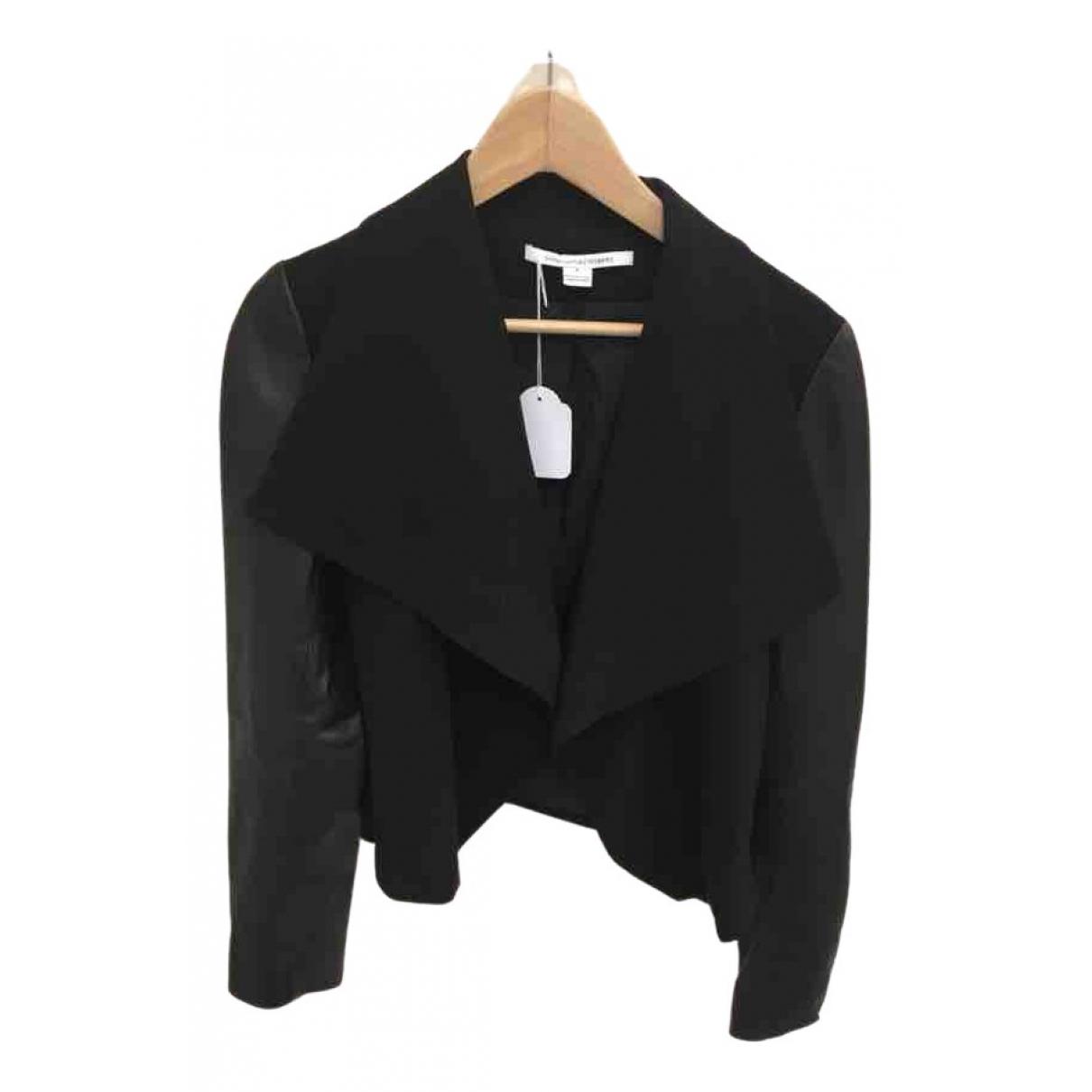 Diane Von Furstenberg \N Black Leather jacket for Women 6 US