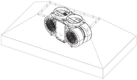 BSPCIB1200 1200 CFM Internal Blower Kit For 36