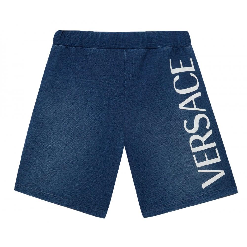 Versace Cotton Shorts Colour: BLUE, Size: 14 YEARS