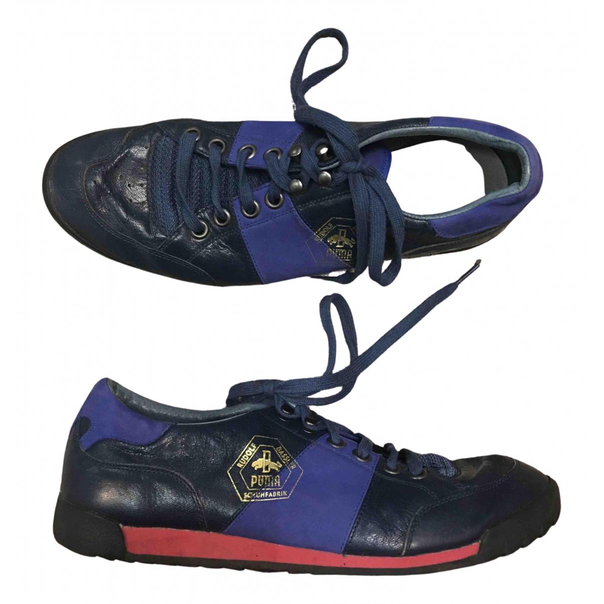Puma N Blue Leather Trainers for Men 43 EU
