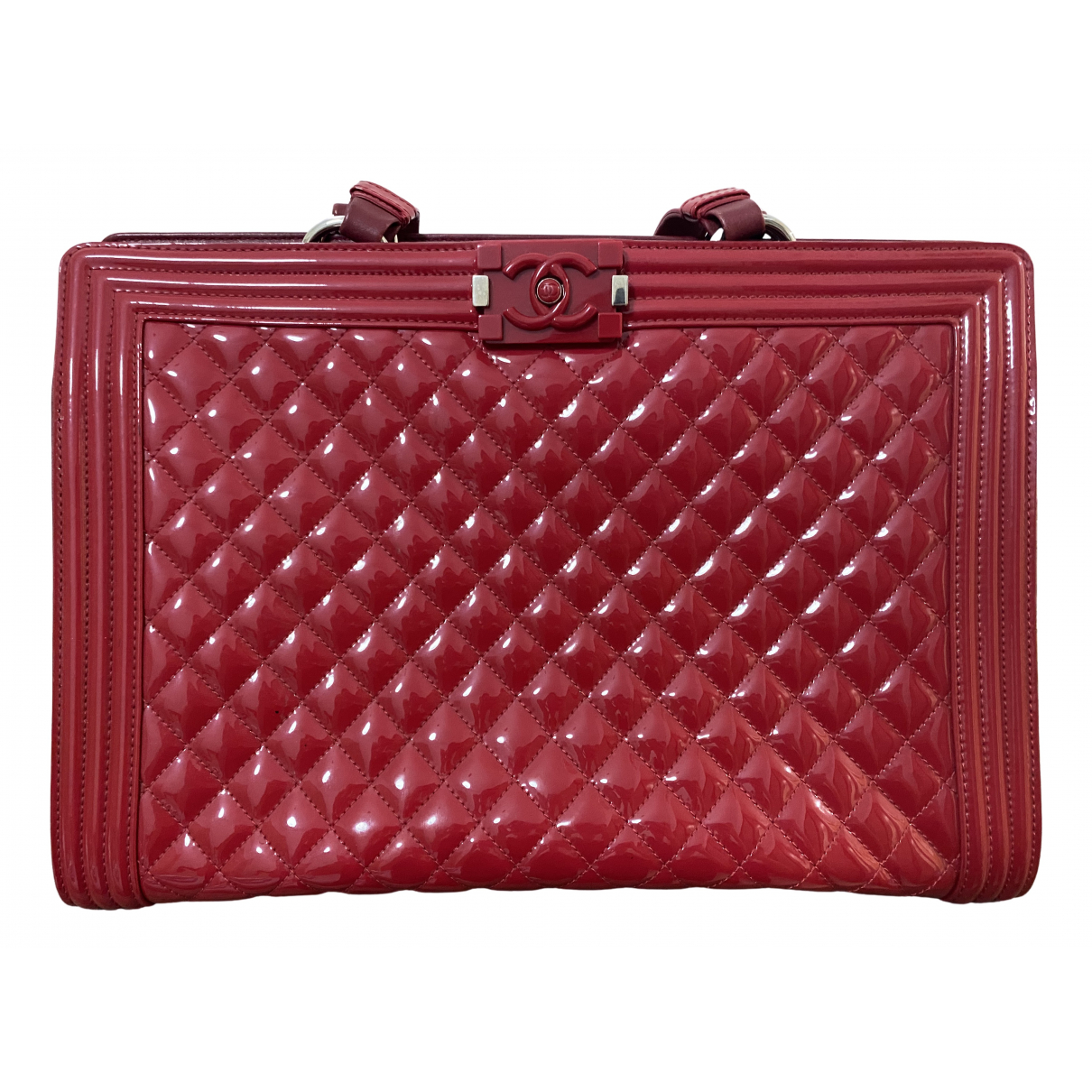 Chanel Boy Tote  Red Leather handbag for Women N
