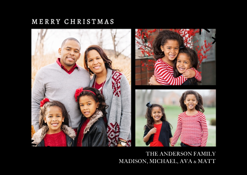 Christmas Photo Cards Set of 20, Premium 5x7 Foil Card, Card & Stationery -Christmas Foil Sparkle by Tumbalina