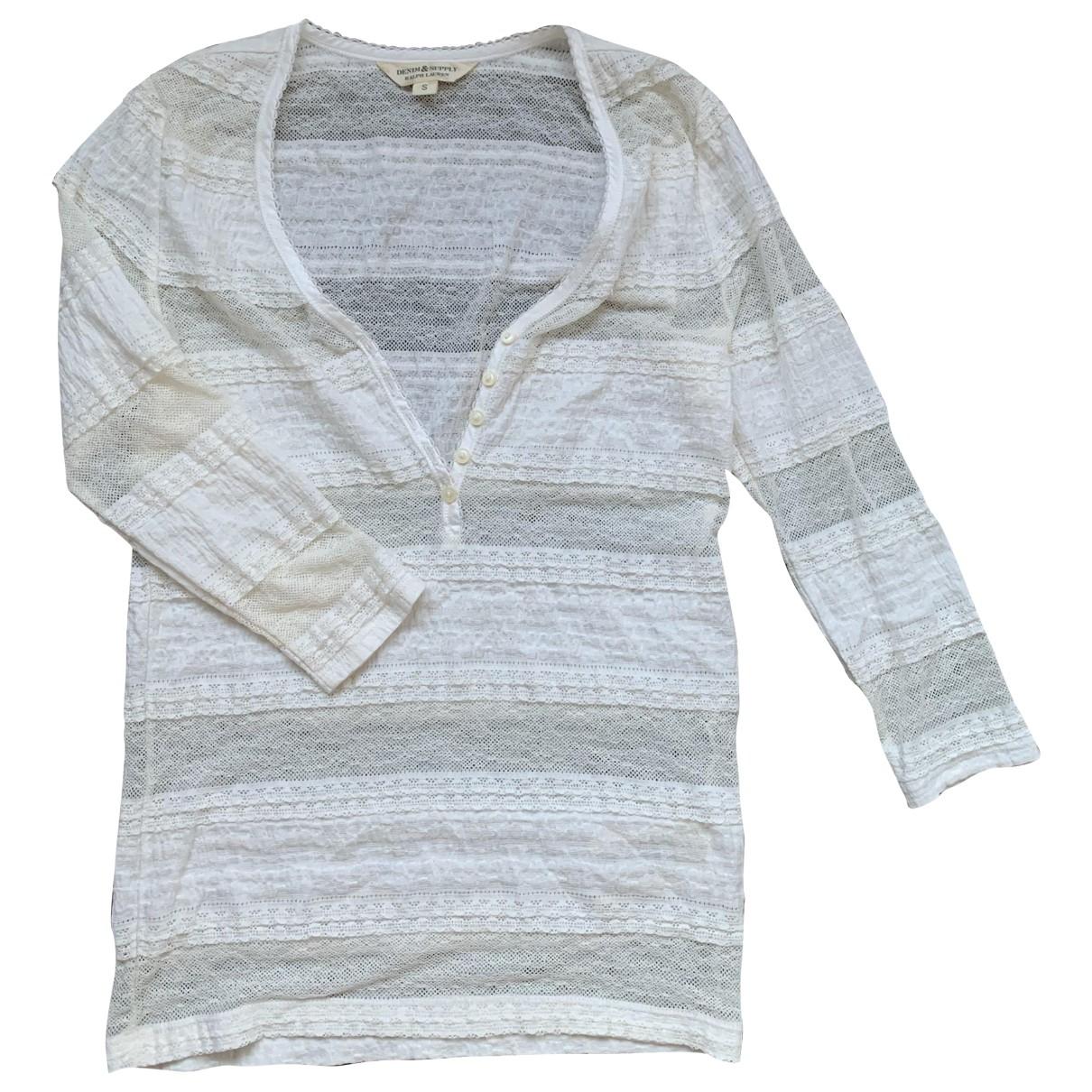 Ralph Lauren Denim & Supply - Top   pour femme en coton - beige