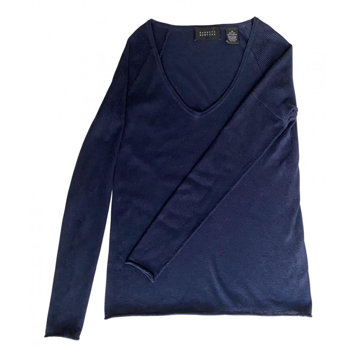 Barneys New York - Pull   pour femme en cachemire - bleu