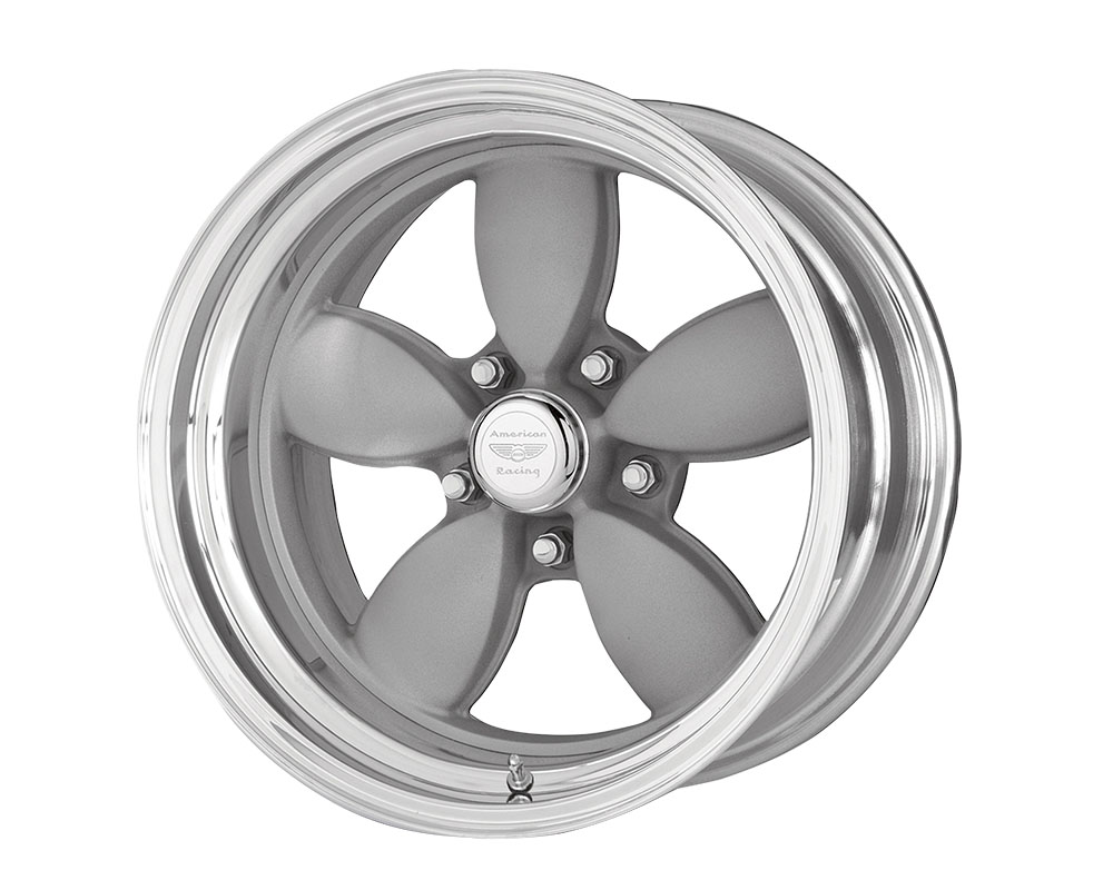American Racing VN402 Classic 200S Wheel 17x9 Blank +0mm Two-Piece Vintage Silver Center Polished Barrel
