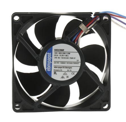 ebm-papst , 12 V dc, dc Axial Fan, 80 x 80 x 25mm, 82m³/h, 3.6W