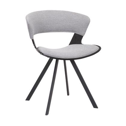 LCULSIBLGR Ulric Wood and Metal Modern Dining Room Accent Chair in