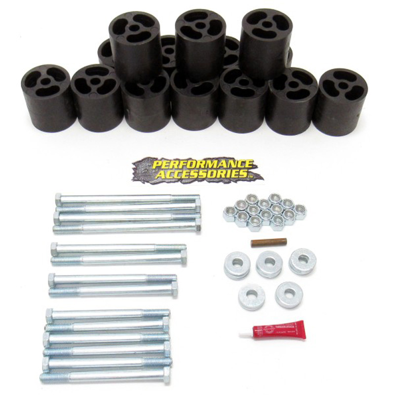 3 Inch Body Lift Kit 73-91 Chevy/GMC Suburban Only 2WD/4WD Gas Performance Accessories PA563
