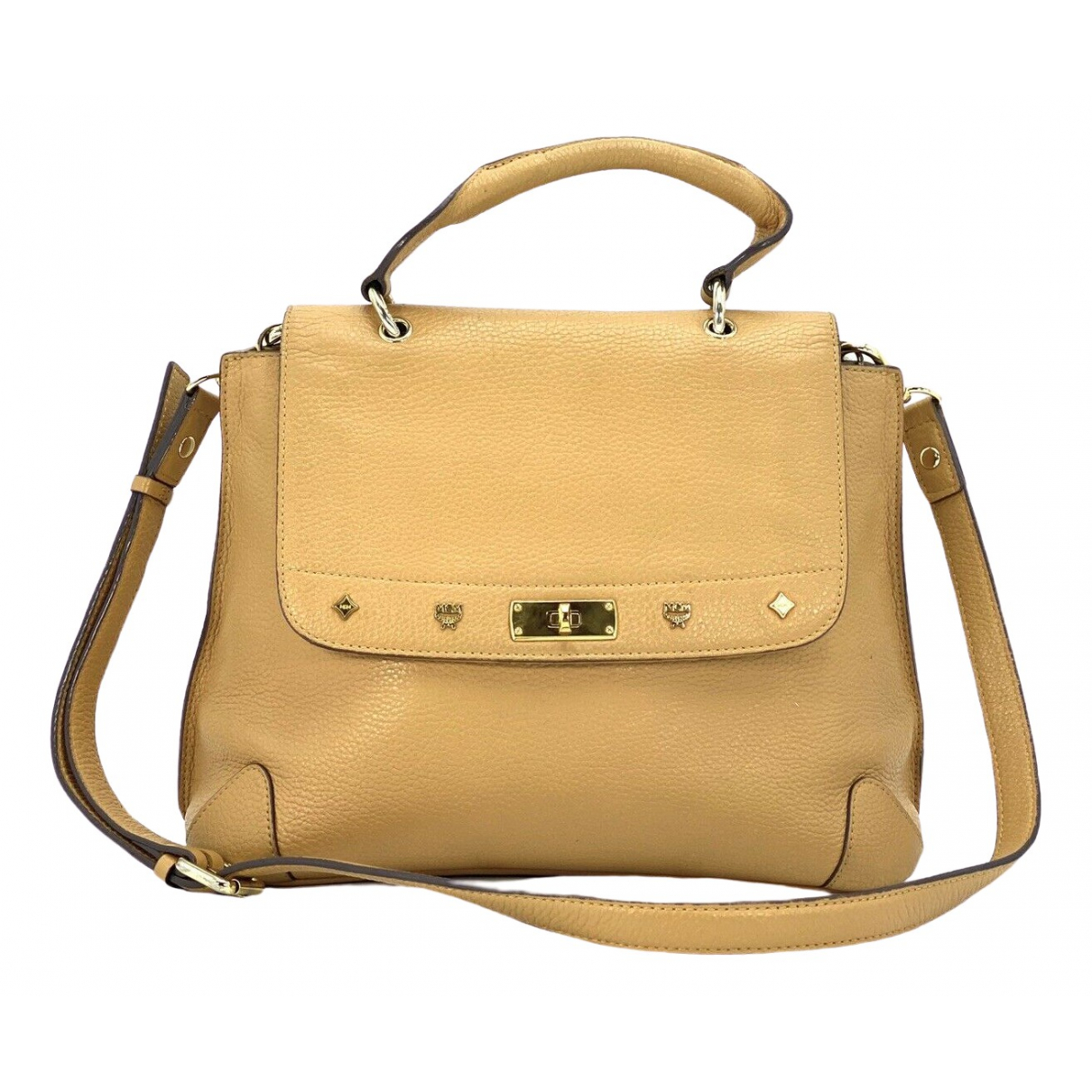 Mcm \N Yellow Leather handbag for Women \N