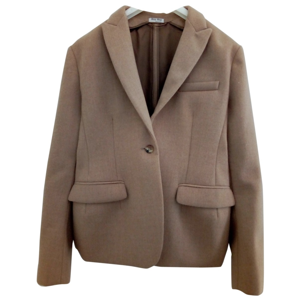 Miu Miu N Camel Wool jacket for Women 44 IT