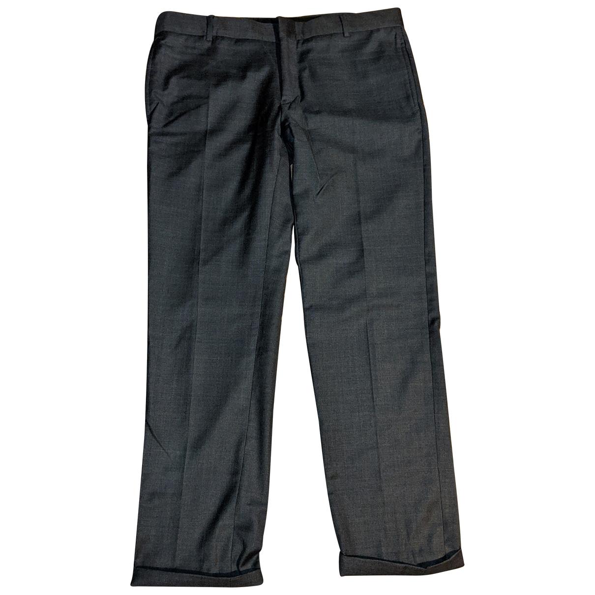 Daniele Alessandrini \N Black Wool Trousers for Men M International