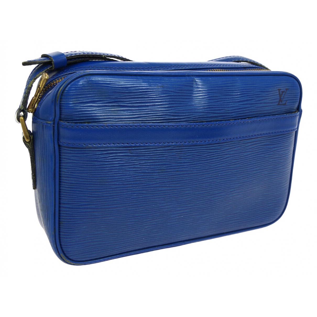 Louis Vuitton - Sac a main Trocadero pour femme en cuir - bleu
