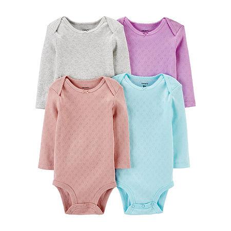Carter's Little Baby Basic Baby Girls 4-pc. Bodysuit, Preemie , Multiple Colors