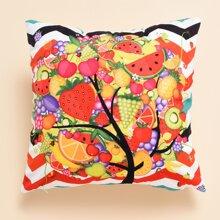 Kissenbezug mit Obst Muster ohne Fuelle
