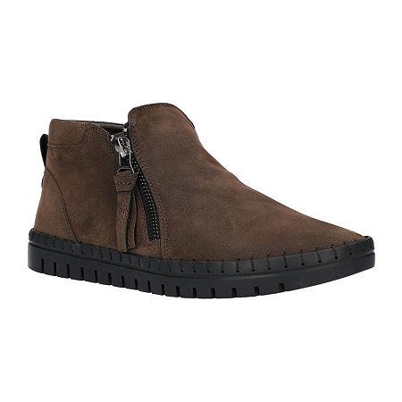 Easy Street Womens Shalina Booties Flat Heel, 11 Wide, Brown