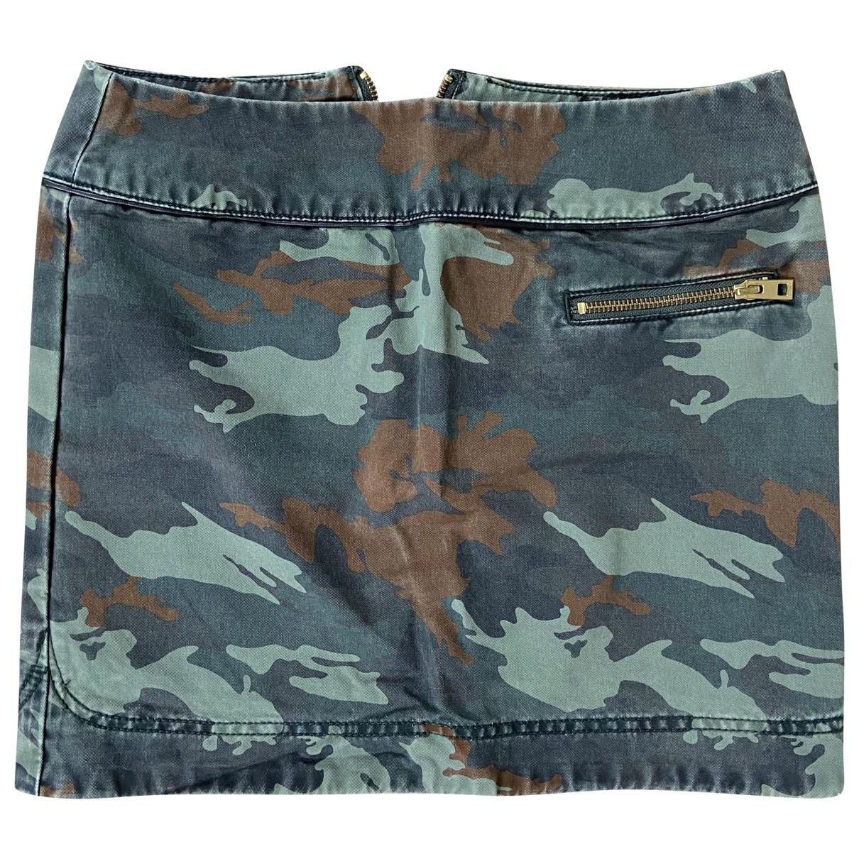 Zadig & Voltaire \N Khaki Cotton skirt for Women 34 FR