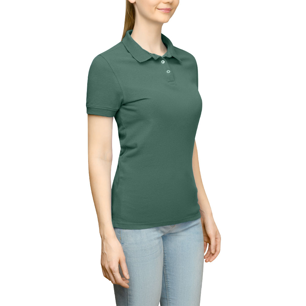 Page & Tuttle Solid Jersey Polo Golf Shirt Green- Womens- Size XS