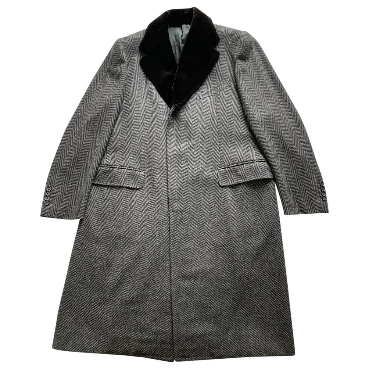 Valentino Garavani - Manteau   pour homme en laine - gris