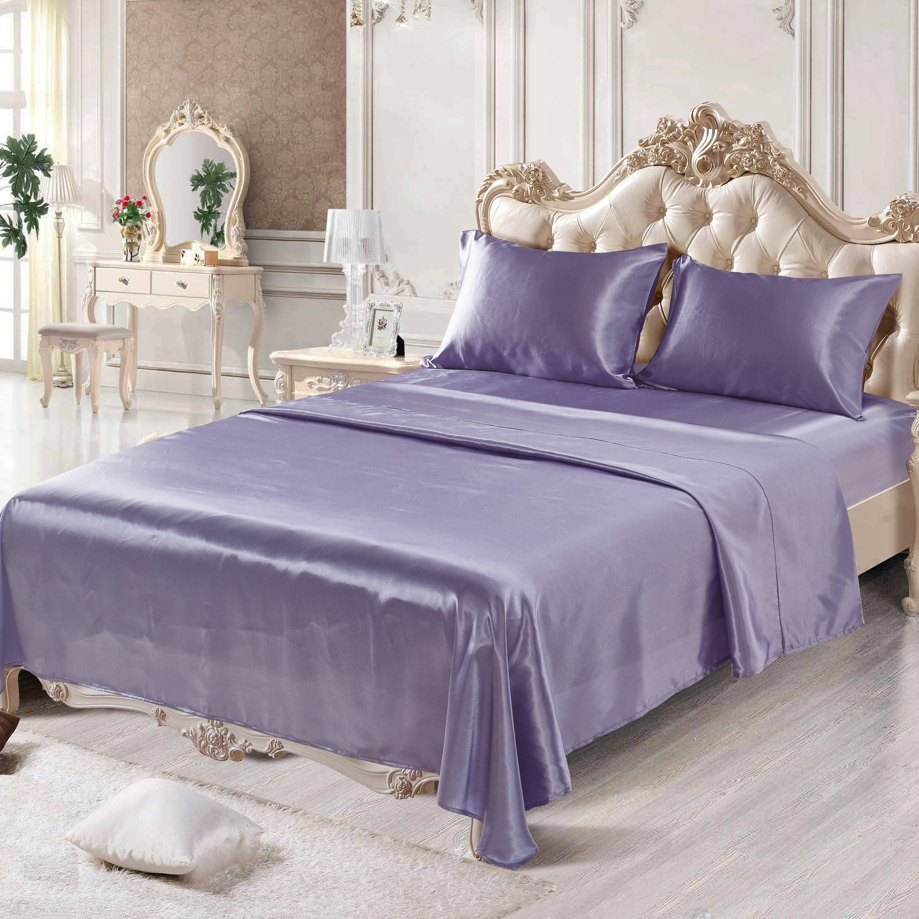 Reactive Printing Technics Polyester Material Plain Pattern Bedding Sets