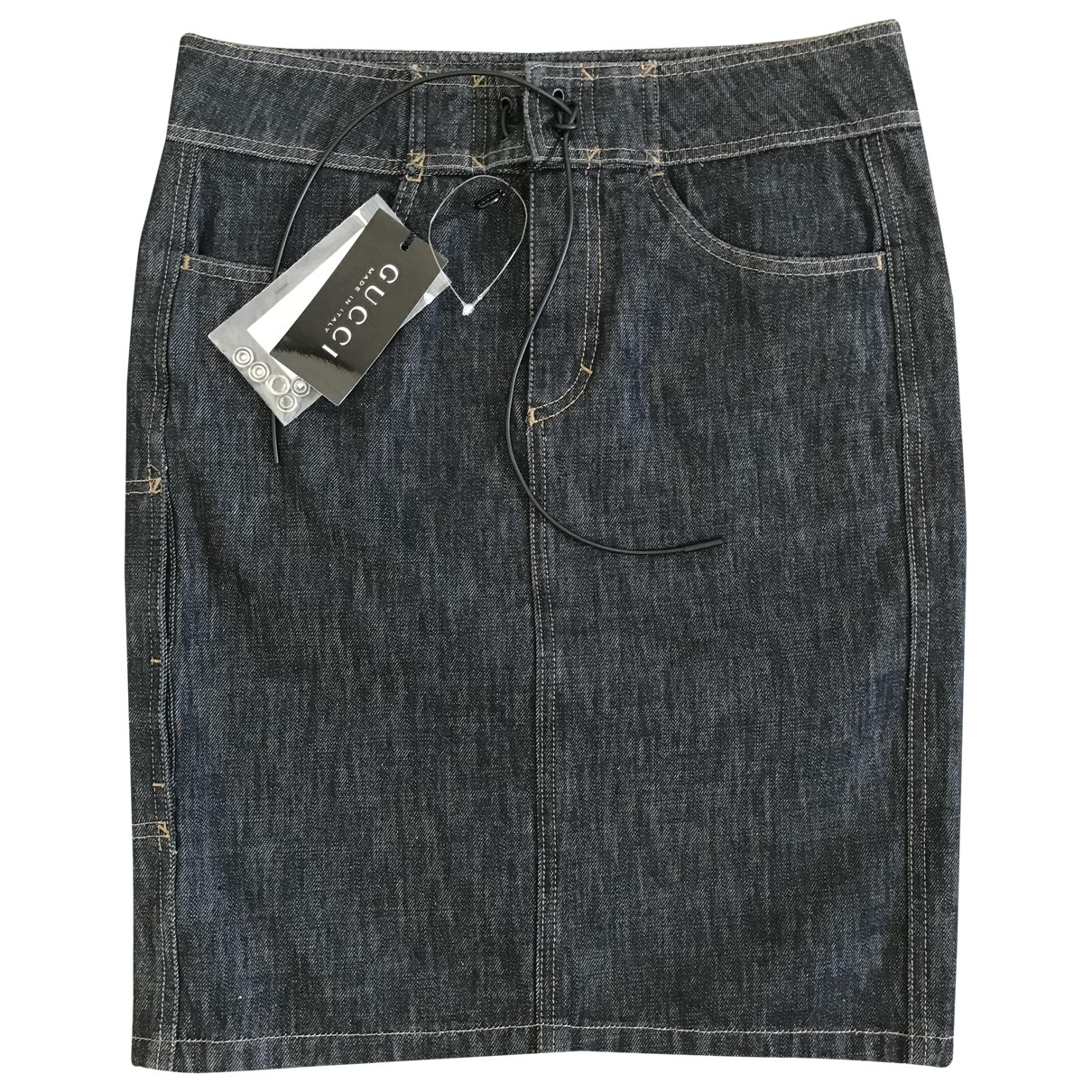 Gucci \N Grey Denim - Jeans skirt for Women 40 IT