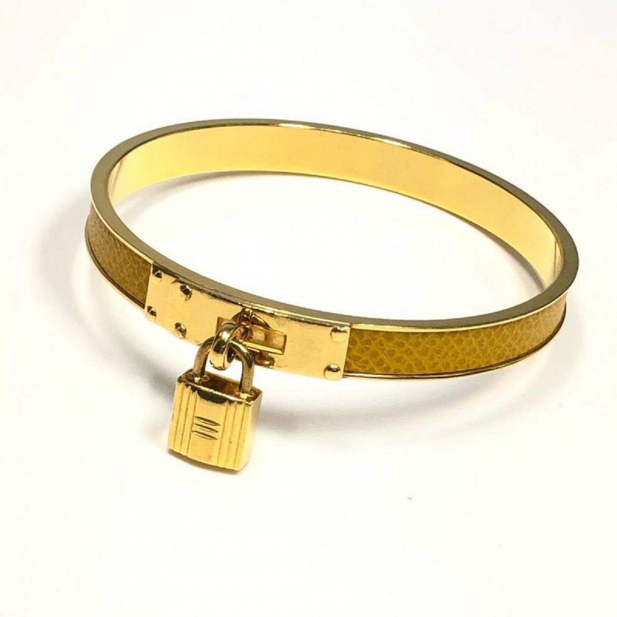 Hermes - Bracelet   pour femme en plaque or