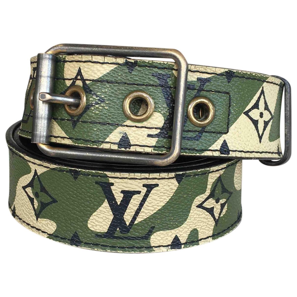 Louis Vuitton \N Green Cloth belt for Men 100 cm