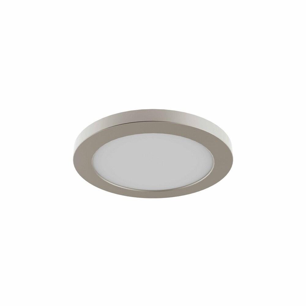 DVI Lighting DVP38908SN4K LED Flushmount Avro Satin Nickel - One Size (One Size - Clear)