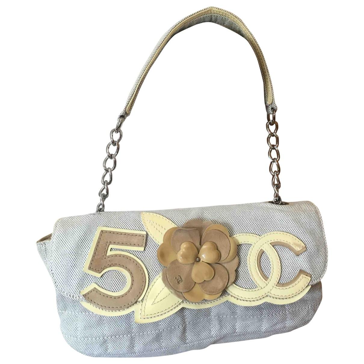 Chanel - Sac a main   pour femme en coton - beige