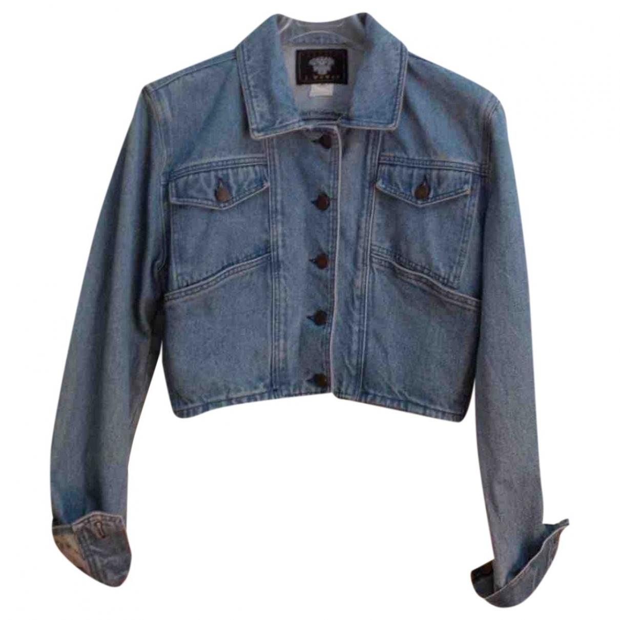 Non Signé / Unsigned \N Blue Denim - Jeans jacket for Women 46 IT