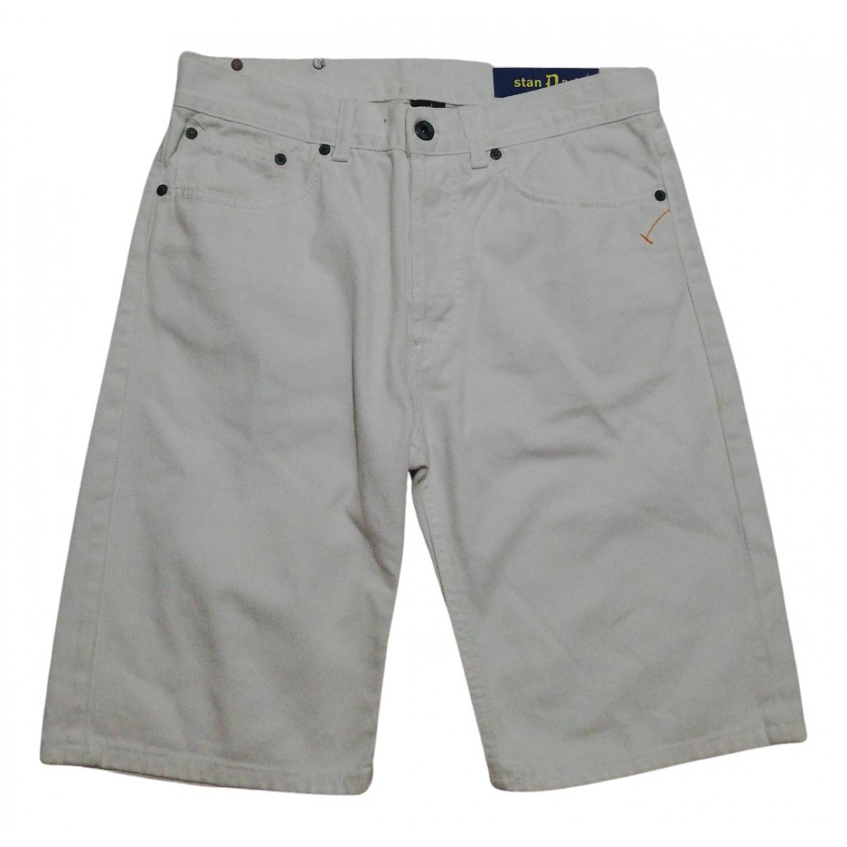 Dondup N White Cotton Shorts for Men 32 UK - US