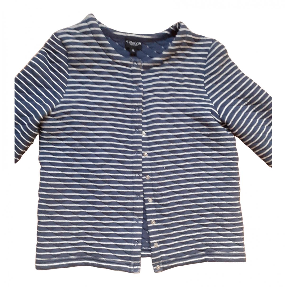 Cyrillus - Pull   pour femme en coton - bleu