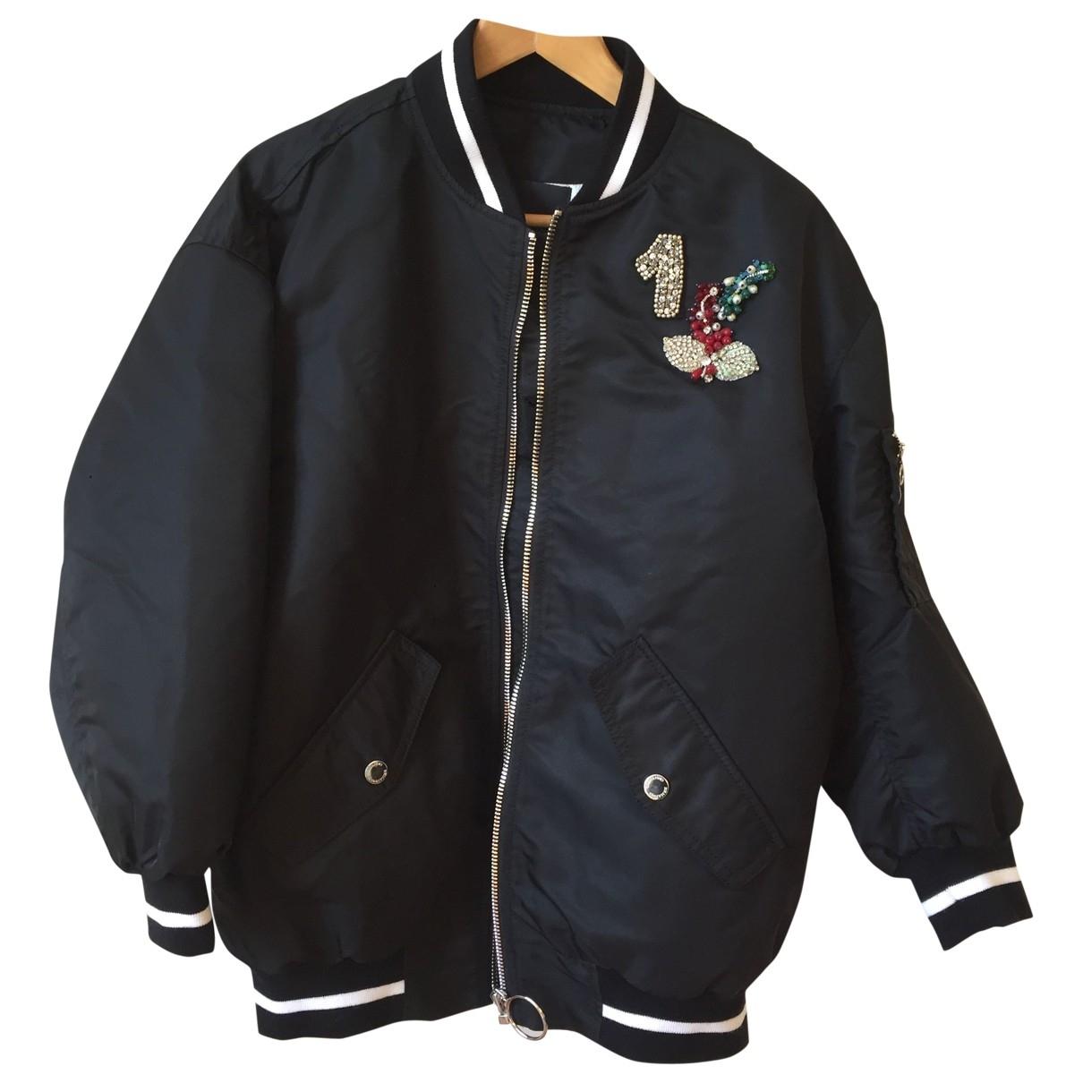 Ermanno Scervino \N Black Leather jacket for Women 38 IT
